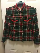Vintage Tartan Jacket Size 12 By Maggy Boutique