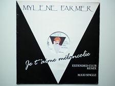 Mylene Farmer Maxi 45Tours vinyle Je T'aime Mélancolie