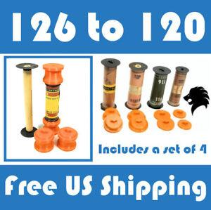 126 to 120 Roll Film Spool Adapter Set/Kit 4pcs 4A Folding Kodak 4 ¼A E26 28 19A