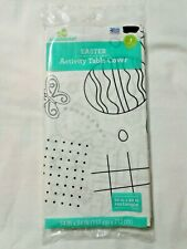 Table Cover Paper Easter Activity Kids Maze Word Search Tic Tac Toe Color