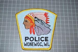 Wonewoc Wisconsin Police Patch (B17-A21)