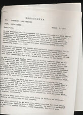 CANNED HEAT / TARANTULA 1969 memo about new signing and dates for Canned Heat