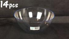 14pcs x 27cm Salad Bowl Crystal Plastic Bowl Salad Server Kitchen #3517