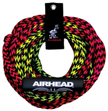 Airhead 2-Section Tow Rope | 1-2 Rider Rope for Towable Tubes, Black, 7/16