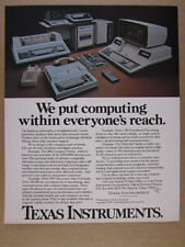 1978 TI Texas Instruments 990 Computer Series 700 OMNI 800 vintage print Ad