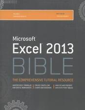 Bible: Excel 2013 Bible by John Walkenbach (2013, Paperback / Online Resource)