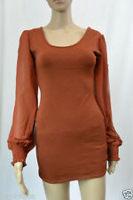 Cotton Blend Solid Stretch, Bodycon Dresses