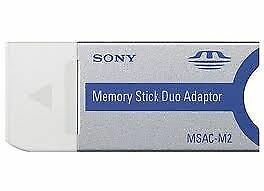 Genuine SONY Memory Stick Duo Adaptor MSAC-M2 Memory Adapter Pro Made in Japan
