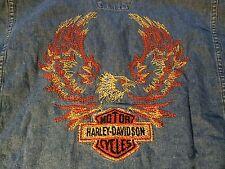 Genuine HARLEY DAVIDSON JEAN SHIRT LONG SLEEVE BUTTON UP Size Large