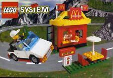 LEGO MCDONALDS RESTAURANT DRIVE-THRU 3438 SET w/ Custom Stickers chef minifig