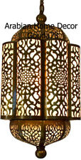 Unique Handcrafted Moroccan Brass Hanging Lamp Lantern Ceiling Light Fixture