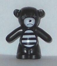LEGO - Teddy Bear: Arms Down, Button Eye, Mouth Stitches, Striped Belly - Black