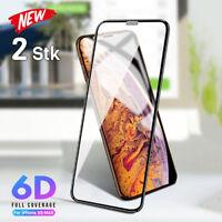2x 6D Panzerfolie für iPhone XS Max Schutzglas Full Screen Display Glas