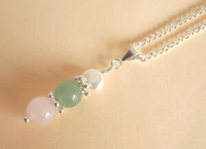Gemstone Crystal Healing Skin Conditions Eczema Acne Hives Allergies Necklace