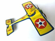 RARE Vintage 1920's Nonpareil PN 9 Wind-up Tin Toy Airplane *Great Condition*