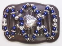 """Double Magic Hair Comb, Angel Wings Clips 4x3.5"""",African Butterfly, Quality MS50"""
