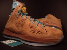 Nike Air Max LEBRON X 10 EXT QS HAZELNUT BROWN TIDE POOL BLUE SAIL 607078-200 DS