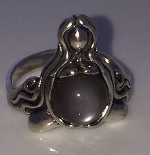 Goddess Abundance Ring .925 Sterling Silver Gray Moonstone Sz 7 MOTHER ring