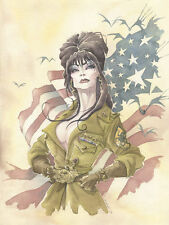 ELVIRA Gris Grimly GICLEE Ltd Edition #'d SIGNED BY BOTH Poster ART PRINT
