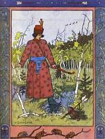 PAINTING ILLUSTRATION FOLKLORE RUSSIA BILIBIN FROG PRINCESS ART PRINT HP1672