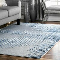 nuLOOM Contemporary Alexandra Abstract Area Rug in Blue