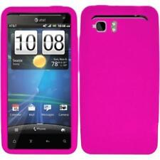 Hard Snap-on Rubberized Case Cover for HTC Vivid - Hot Pink