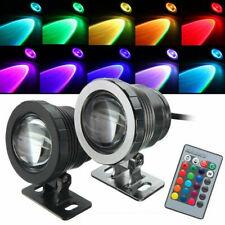 10W Waterproof LED RGB Flood Light Underwater Outdoor Garden Pool Spot Lamp 12V