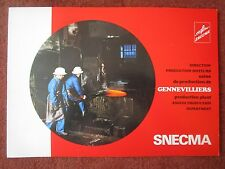 1979 PLAQUETTE SNECMA GENNEVILLIERS FORGE FONDERIE USINAGE FOUNDRY MACHINING