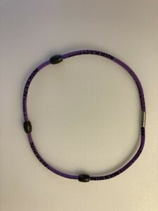 """Nikken  PowerBand  Necklace Purple 20"""" Magnetic Therapy"""