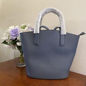 Fashion Blue Designer Genuine Leather BASKET Shoulder Crossbody Convertible Bag