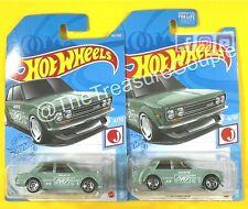Hot Wheels 2021 - Lot of 2 - '71 DATSUN 510 - J-Imports - B53