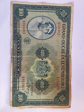 Grand-Duche' De Luxembourg 100 Cent Francs # A181983 FREE SHIP*