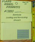 Plano HO 13850 Slamlocks; Locking and Non-Locking 24 Etched Stainless Steel