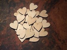 x25 Birch Wooden Heart Shapes. Blank Embellishments, Craft Tags 37mm x 35mm