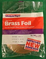 3/16 Venture BRASS Adhesive Stained Glass Foil Tape - 1.0 mil