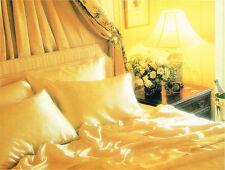 Romantic Seamless Satin Sheet Set Queen BURGUNDY