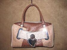 GUESS USA by Marciano Womens Calypso Brown Satchel Handbag Purse NWT