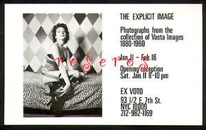EX VOTO Gallery EXHIBITION Announcement Vasta Images/Books East Village NYC 1985