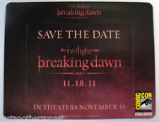 SDCC Promo BREAKING DAWN Twilight Saga Save the Date 2 piece MAGNET frame title