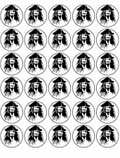 30 PIRATE PREMIUM RICE WAFER PAPER FAIRY CUP CAKE TOPPERS PIRATES BIRTHDAY D1