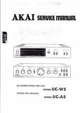Akai Service Manual für UC- W 5 und UC-A 5