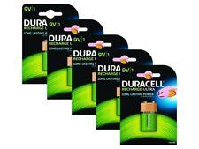 5 X Duracell 9 V pp3 bloc 170 mAh Rechargeable Batteries hr22 6lr61 hr9v dc1604