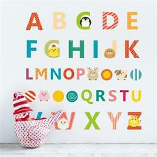 Baby Kids Room English Letter Alphabet Removable Wall Sticker Mural Decor CS