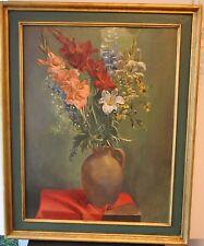 AMANDUS GOETZELL Blumenstillleben Gladiolen 1937 Grossformat Gemälde/Ölbild