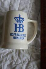 "Vintage German Hofbrauhaus Munchen Bier O.25? L Beer 4.5"" Stein Mug"
