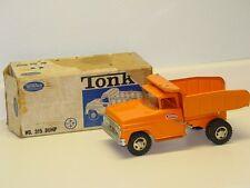 Vintage Tonka No. 315 Dump Truck, Orange, Pressed Steel Toy Vehicle In Box