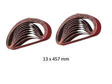 Lot de 20 bandes abrasives pour ponceuse à bande lime électrique REF 910232