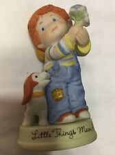 Avon Collectible Figurine - 1983 LITTLE THINGS MEAN A LOT - Little boy