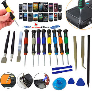 Mobile Phone 20 in 1 Repair Tool Kit Screwdriver Set iPhone iPod iPad Samsung UK
