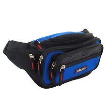 Outdoor Bauchtasche 7 Fächer robuste Gürteltasche Hüfttasche Angeltasche blau